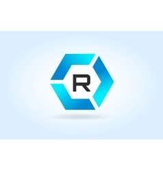 R letter icon template vector