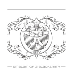 Emblem of a blacksmith vector
