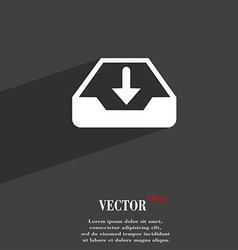 Restore symbol flat modern web design with long vector