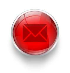 Red mail icon vector