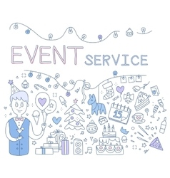 Event Service vector image