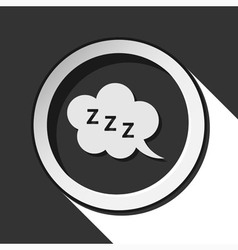 Icon - zzz speech bubble with shadow vector