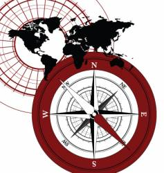 Compass map vector