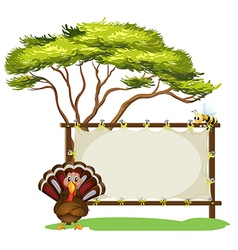 A turkey and the empty signage vector image vector image