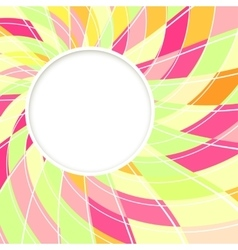 Abstract white round shape Candy background vector image vector image