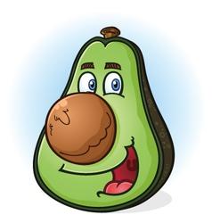 Avocado cartoon character vector
