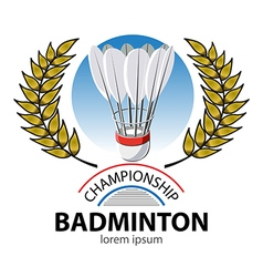 Badminton Championship vector image