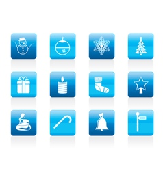 beautiful christmas and winter icons vector image vector image