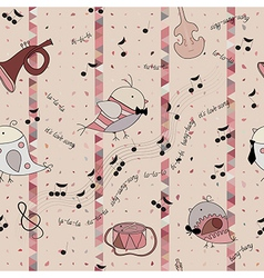 bird love song musical instrument note vector image