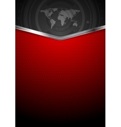 Contrast red black technology background vector