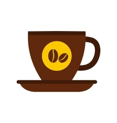 Cup of coffee icon flat style vector
