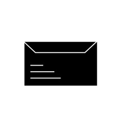 envelope icon sign o vector image