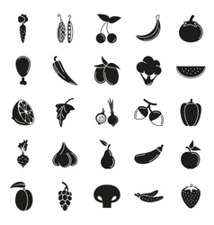 Food Icon set Vegetables and meat vector image vector image