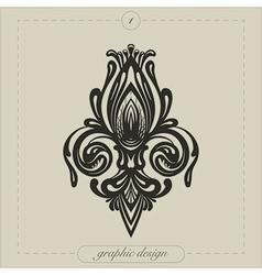 Graphic Element Flourish vector image