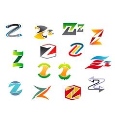 letter z alphabet symbols vector image