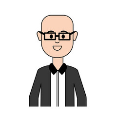 man with glasses and elegant cloth vector image
