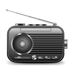 old radio isolated on white vector image vector image