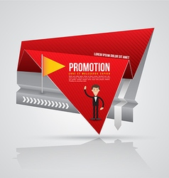 Paper origami banner vector image vector image
