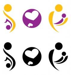 Pregnancy and motherhood symbol vector