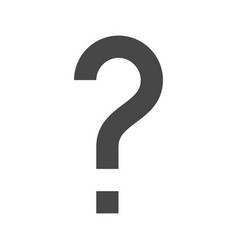 question mark thin line icon vector image