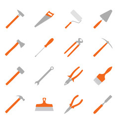 Set of color construction tools vector