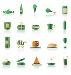 shop and foods icons vector image vector image