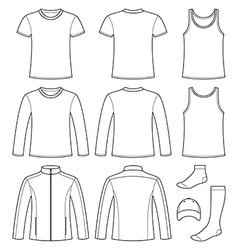 Singlet t-shirt long-sleeved t-shirt jacket socks vector