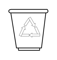 trash bucket icon vector image vector image