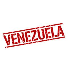 Venezuela red square stamp vector