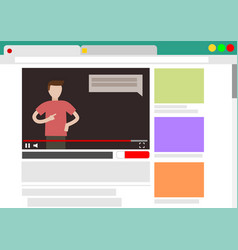 viewing video blog in browser vector image