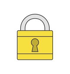Padlock protection security system icon vector