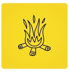 Bonfire icon fire sign vector