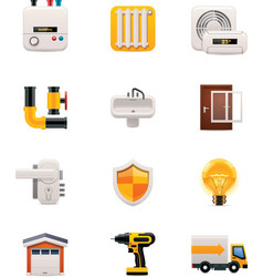 Part two of house renovation icon set vector