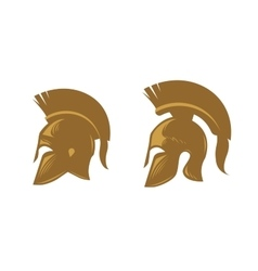 Ancient spartan helmet with feathered crest vector image
