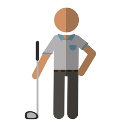Golf player gray uniform vector