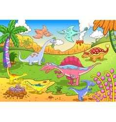 Cartoon Dinosaur Background vector image