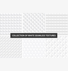 beautiful decorative textures - white seamless vector image