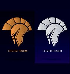 luxury roman or greek helmet spartan vector image