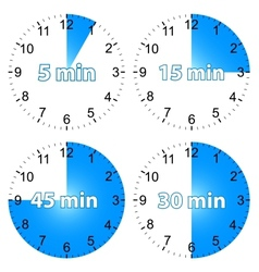 Set hours vector image