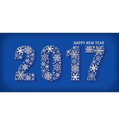 2017 Happy new year banner vector image