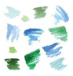 Watercolor background set vector image