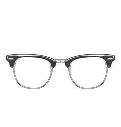 Classic sunglasses clubmaster vector image