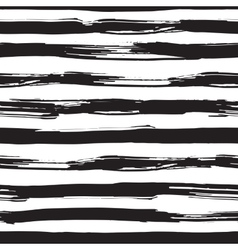 Seamless pattern with black brush strokes vector