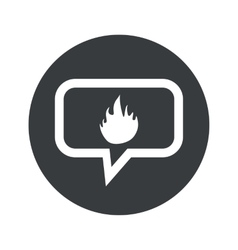 Round dialog fire icon vector