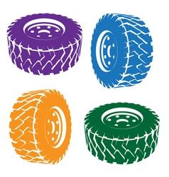Stylized car wheel vector