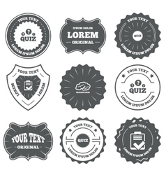 Quiz icons checklist and brainstorm symbols vector