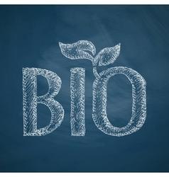 Bio sign icon vector
