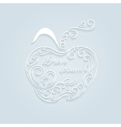 Apple decorative ornamental vector image