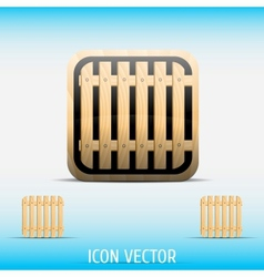 Icon open vector