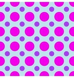 Polka dot geometric seamless pattern vector